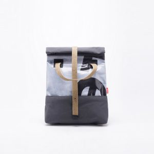 Studio upcycled fold backpack